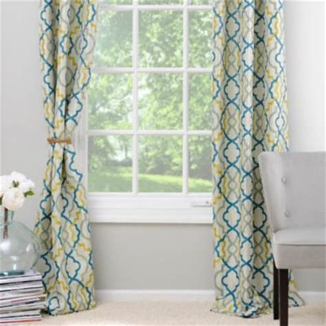 Green And Yellow Curtains Marrakech Blue And Green Curtain Panel Set 84 In Green Colors And Blue And