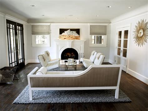 Neutral Living Room With Fireplace Neutral Rooms That Wow Hgtv