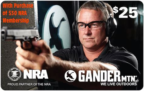 Where Can I Buy Gander Mountain Gift Cards - buy 30 nra membership get 25 00 gander mountain gift card 171 daily bulletin