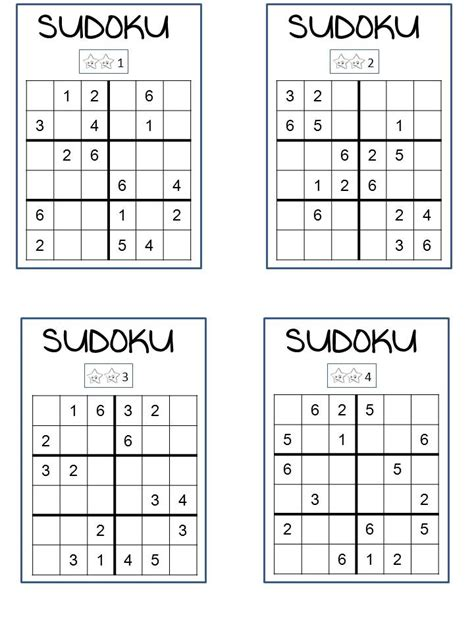 printable outside sudoku for kids 4x4 and sudoku puzzles on pinterest