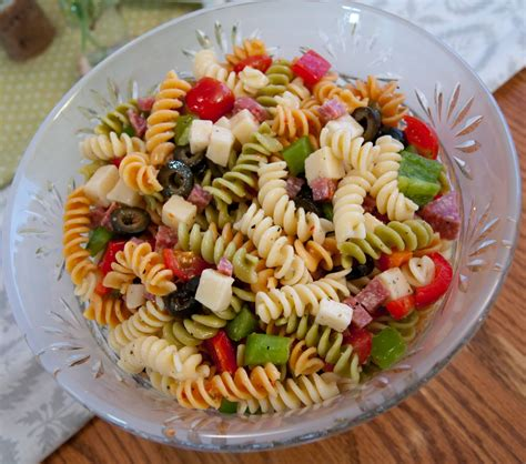 cold pasta salad with italian dressing pasta salad italian dressing tricolor pasta salami