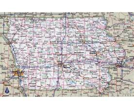 maps of iowa state collection of detailed maps of iowa