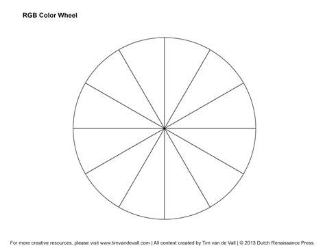 RGB Color Wheel, Hex Values & Printable Blank Color Wheel Templates