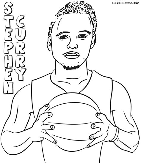 free curry coloring pages stephen curry free colouring pages