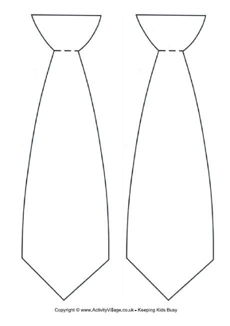 Mens Tie Template by Tie Template