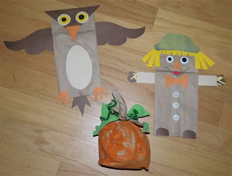 paper bag crafts for preschool autumn paper bag crafts preschool october