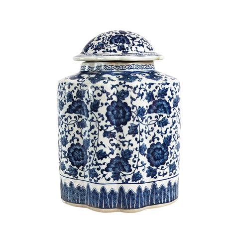 blue and white ginger jar ls blue white porcelain ginger jar chairish