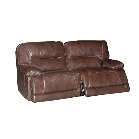 brown leather reclining sofa 86 quot brown leather match reclining sofa