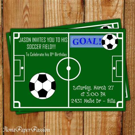birthday card template soccer soccer birthday invitation free printable