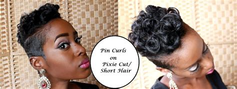 how to cut your short backhair pin curls on pixie cut short hair youtube