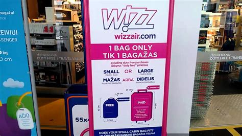 wizzair cabin baggage measuring cage