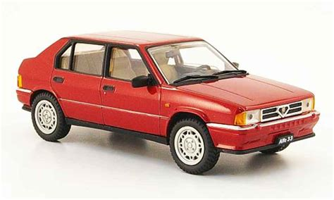 pego car alfa romeo 33 quadrifoglio red 1983 pego diecast model car