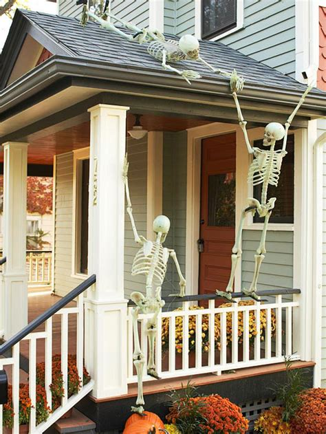 halloween home decor for interior and exterior best home outdoor halloween decorating with skeletons