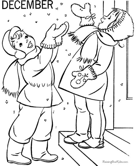 December Coloring Book Pages December Coloring Page