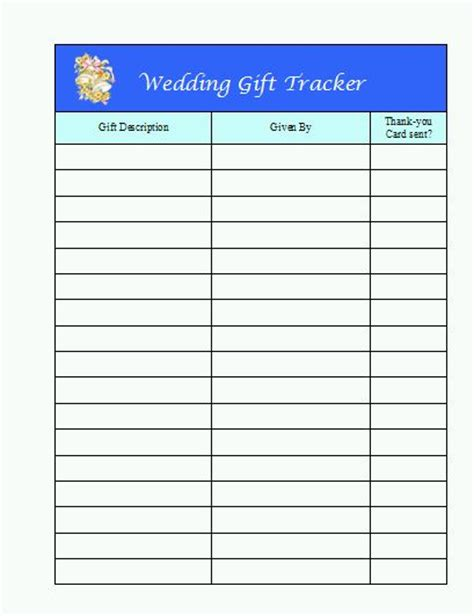 wedding shower gift list template all custom labels diy wedding templates
