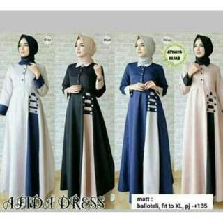 Gamis Murah Di Shopee Baju Gamis Wanita Murah Afida Maxi Dress Shopee Indonesia