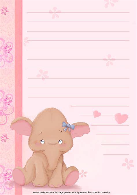 Modèles De Papier à Lettre Gratuit Monde Des Petits Papier 224 Lettre