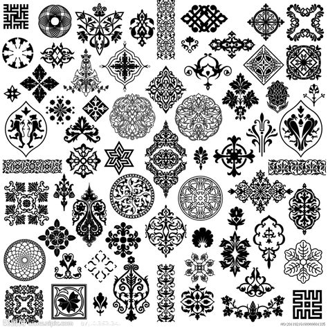 pattern vector ai file 花边 边角花源文件 psd分层素材 psd分层素材 源文件图库 昵图网nipic com