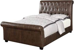 Upholstered Sleigh Bed King Innsbruck Ii Brown King Upholstered Sleigh Bed From Emerald Home Coleman Furniture