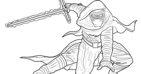 coloring pages kylo ren star wars the force awakens kylo ren coloring page star