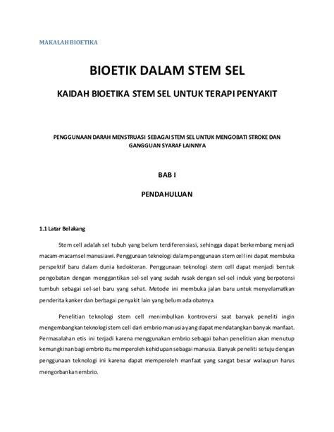 bioetik adalah stem cell