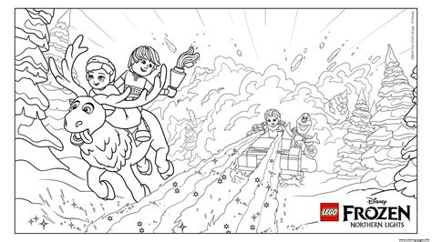 coloring pages lego frozen frozen nl avalanche lego disney coloring pages printable