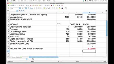 How To Calculate Profit And Loss In Excel using spreadsheet formulas to figure out profit or loss in