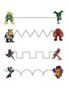 superheroes worksheets for kıds funnycrafts