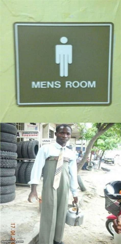 mens room sign