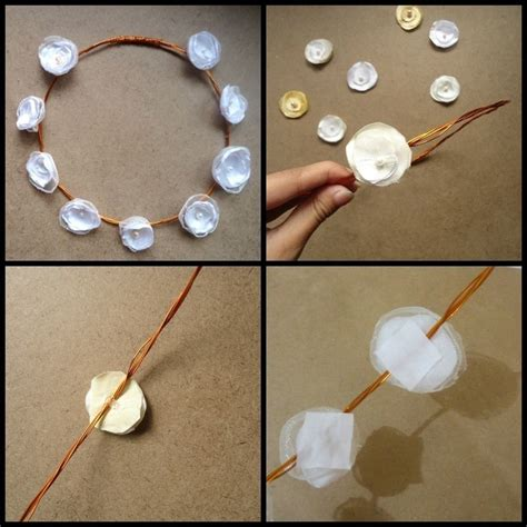 How Do You Make A Crown Out Of Paper - satin flower wired tiara 183 how to make a tiara crown