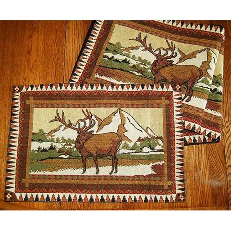 country placemats and table runners elk country table runner placemats cabin place
