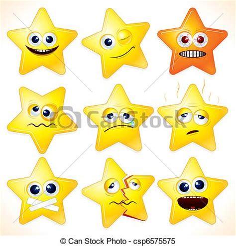 clipart stelle clipart vettoriali di divertente stelle smiley cartone