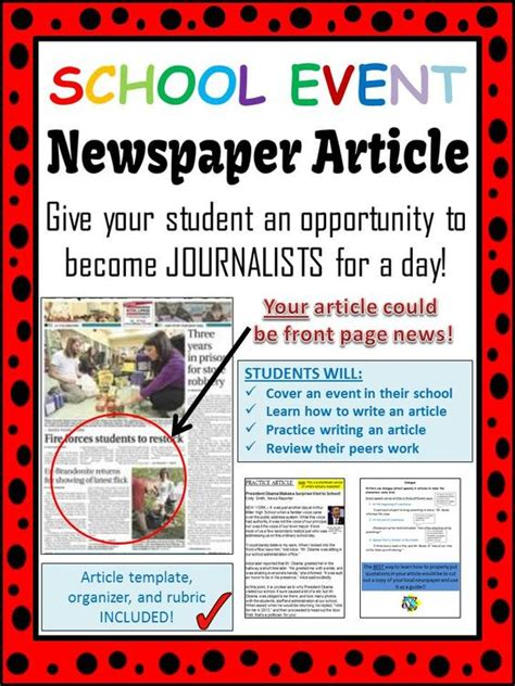 how to write a news paper article school event newspaper article peer review template