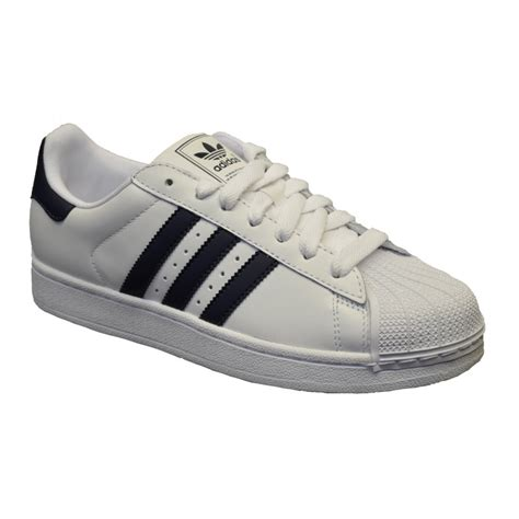 adidas men adidas adidas superstar 2 white navy gd2 mens trainers