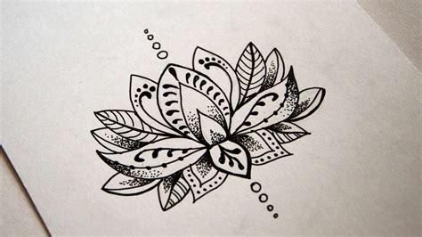simple lotus mandala speed drawing youtube