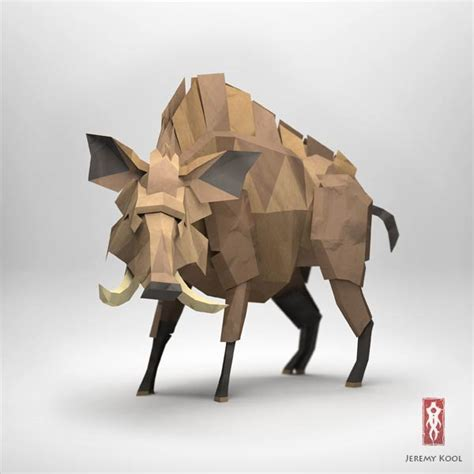 Origami 3d Animals - 3d origami illustrations of animals by kool
