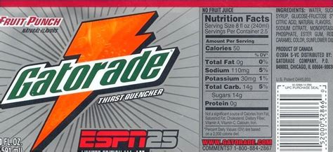 Gatorade Label Made By Creative Label Gatorade Label Template