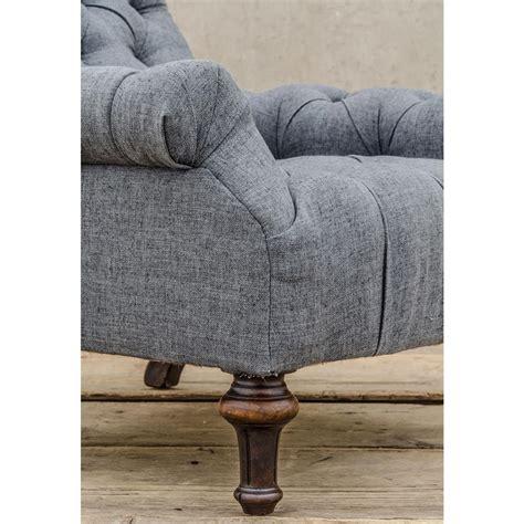 charcoal grey armchair donata modern classic tufted charcoal grey linen armchair
