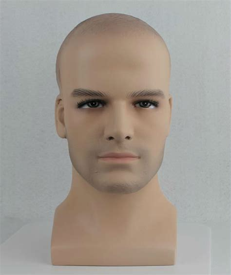 budget plastic male female display head heads mannequin male wig head wig ponytail
