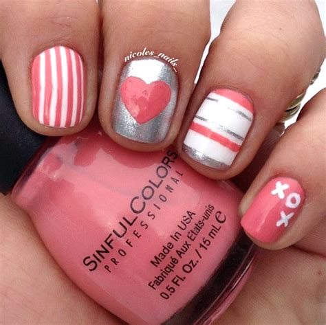 valentines day nails adorable s day nail ideas crafty morning