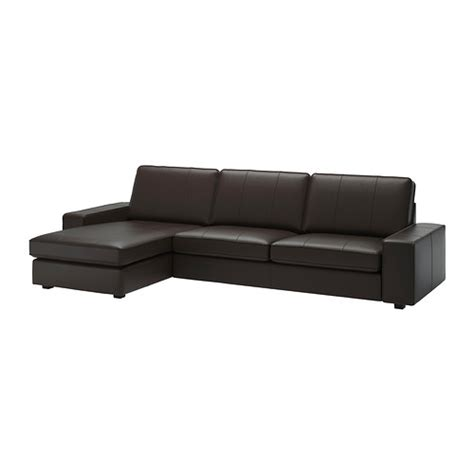 ikea kivik chaise lounge kivik sofa and chaise lounge grann bomstad dark brown ikea