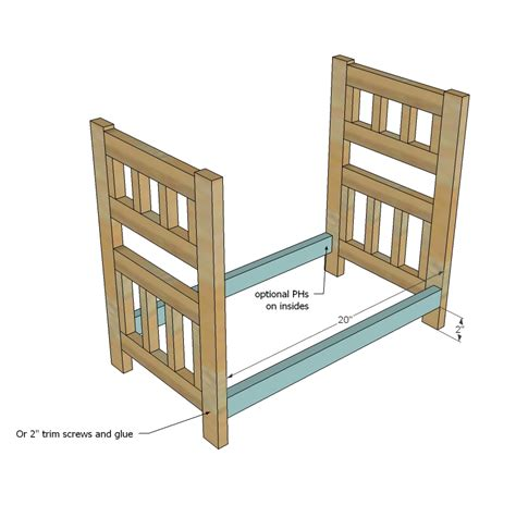 american bunk bed plans white c style bunk beds for american or 18 dolls diy projects
