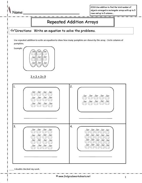 Repeated Addition Worksheets Grade 2 by 16 Best Images Of 2nd Grade Arrays Repeated Addition