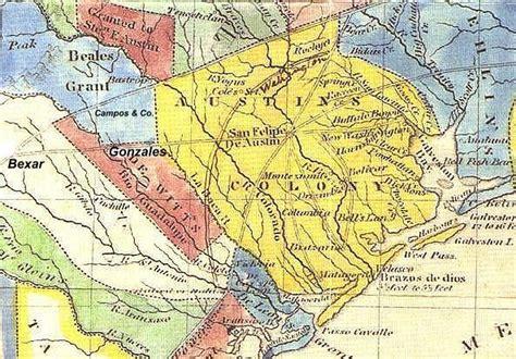colony texas map maps coahuila y tejas 1836