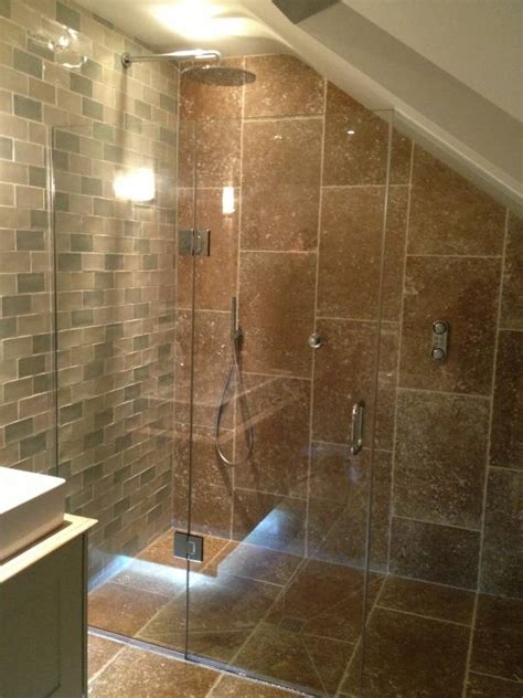 loft ceiling loft sloping ceiling showers glass360 specialist and