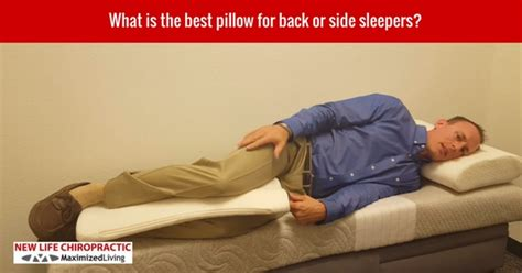 What Is A Pillow For Side Sleepers by New Chiropractic Rocklin Ca Chiropractor