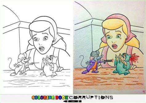 24 Dibujos para colorear cambiados por mentes perversas