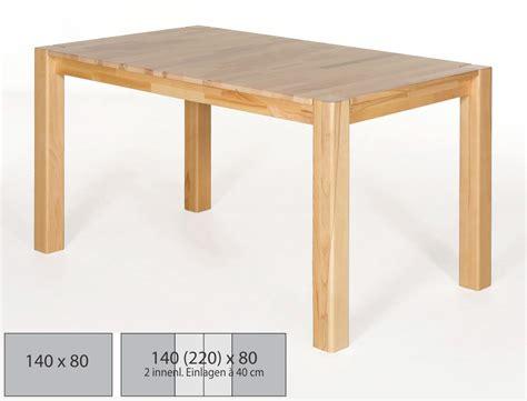 esstisch 140x80 ausziehbar hochwertiger esstisch 140x80 massivholz tisch ausziehbar