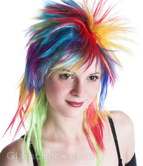 rainbow hair color   dye  hair rainbow