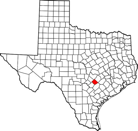 caldwell county texas map file map of texas highlighting caldwell county svg wikimedia commons